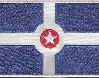 Indianapolis City Flag Iron-On Patch