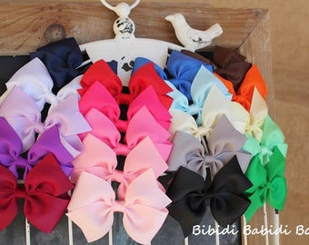 Girls hair bows - set of 5 - 1.00 Hair bows - toddler and girls Hair Bows - Birthday gift   / - You can choose colors