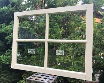 28 x 36-1/2 Vintage Window sash old DOOR TOP 4 pane  from 1940s