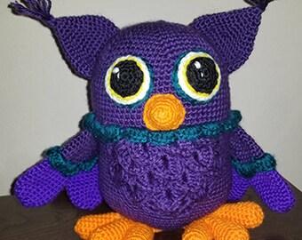 Crochet owl, stuffed toy, amigurumi