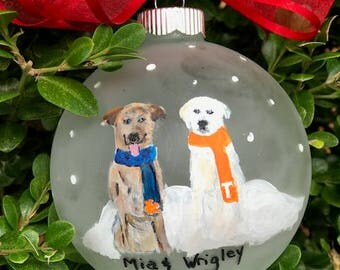 Personalized Dog Ornament, Custom Dog Ornament, Pet Ornament, Dog gifts, Christmas Ornament Dog