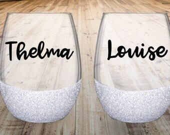 Thelma & Louise Wine Glass Set