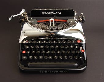 Typewriter Remington Rand 5 'Streamliner' Chrome