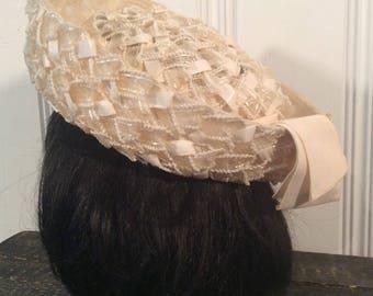 1950's Woven Dress Hat