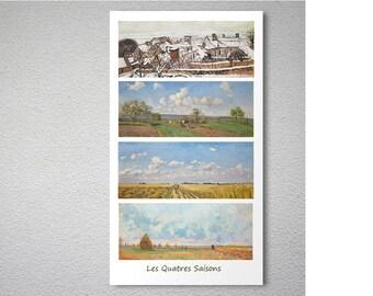 Les Quatres Saisons, L'hiver, Le Printemps, L'ete, L'utomne by Camille Pisarro - Poster Paper, Sticker or Canvas Print