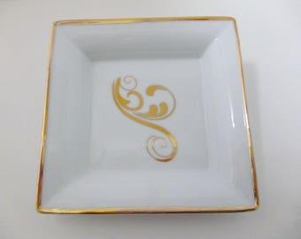 """porcelain dish """"Arabesque gold"""""""
