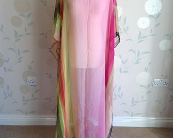 KAFTAN Silk Chiffon Gorgeous item. One Size
