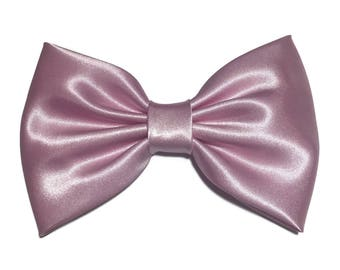 Pink Hair Bow, Satin Hair Bow Clip, Bows For Women, Kawaii Bows, Handmade Bow, Satin Fabric Bow, Lolita, Big Bow, Baby Girl Bow, ST024