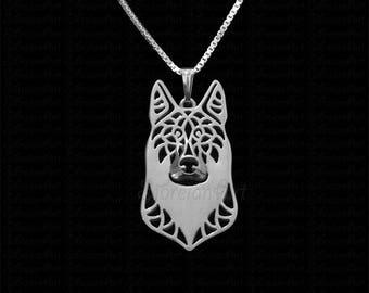 Czechoslovakian Vlcak - sterling silver pendant and necklace