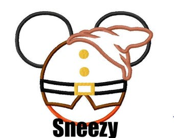 Sneezy Dwarf Inspired Mouse Custom embroidered Disney Inspired Vacation Shirts for the Family! 638