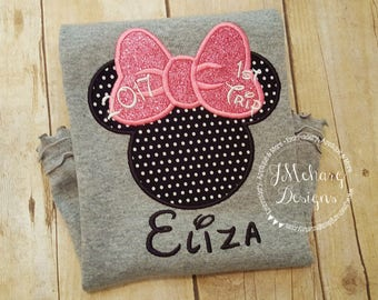 Girl Mouse Custom embroidered Disney Inspired Vacation Shirts for the Family! 720b