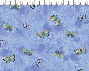HEAVENLY HYDRANGEAS designed by Sue Zipkin for Clothworks - bty - #Y2257-88