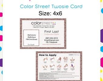 Color Street Twosie Tokyo Glitter 4x6 --Custom Digital Download