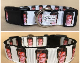 "Handmade Doggy Stardust 1"" Adjustable Dog Collar - LARGE"