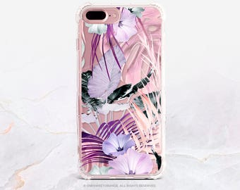 iPhone 7 Case Summer Floral Clear GRIP Rubber Case iPhone 7 Plus Clear Case iPhone 6 Case iPhone 6S Case iPhone SE Case Samsung S7 Edge U222