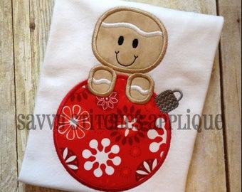 Gingerbread Ornament Machine Embroidery Applique Design
