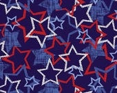 Quilts Of Valor, Fabric By The Yard, Quilting Supplies, Table Runner, red white and blue stars, 4th of July Fabric, Fat Quarter Projects