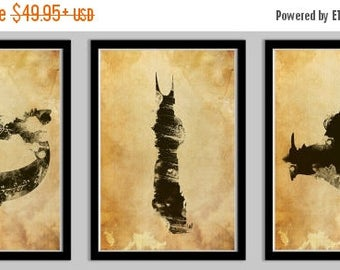 20% OFF SALE WOW Lord of the Rings Poster Set of 3