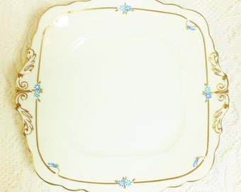 Beautiful Early Paragon Eared Cake Plate