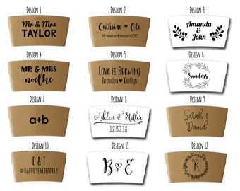 Custom Coffee Sleeves with free personalization, FREE SHIPPING IN U.S.