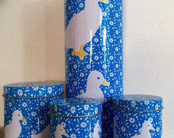Vintage Country Kitchen Duck Canister Set,