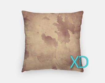 Brown Watercolor Pillow, Brown Pillow Cover, Paint Design Pillow Case, Watercolor Design, Brown Home Decor, Decorative Pillow Case, Sham