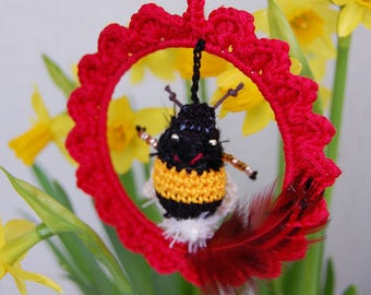 Frame spring Leon bumble bee - garden Decoration, balcony, window