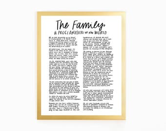The Family Proclamation - Nice & Simple
