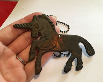 Antique Unicorn Necklace