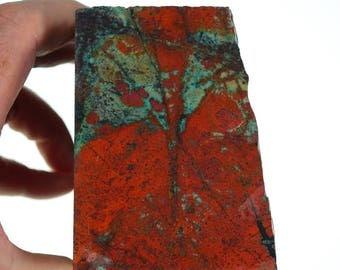 Sonoran Sunrise Rough Cuprite Chrysocolla - Stunning Red Material #R091