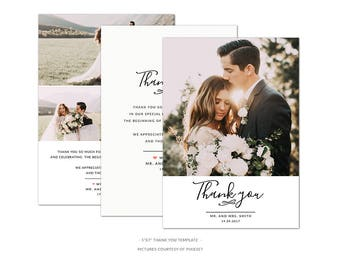 WD1 :. Thank You Card Template | Couple's Love