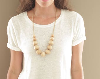 Simple Wood Necklace // Large
