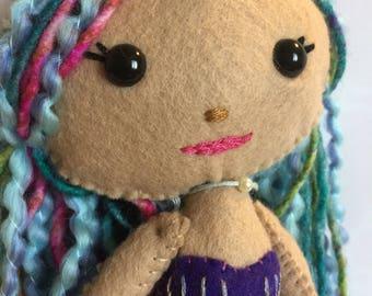 Felt Mermaid doll