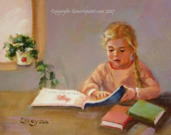 Scholar...Original Oil Painting by Maresa Lilley, SND