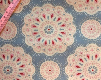 Tilda Doilies Light Blue Fabric  / Sweetheart Collection - Fat Quarter / 50 cm x 55 cm