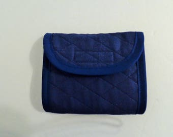 Navy Quilted Wallet