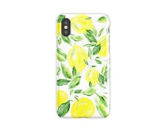 Lemon iPhone X Case, Pre Order, iPhone X case, lemon iPhone case, yellow iPhone case, lemon iPhone X, lemon phone case