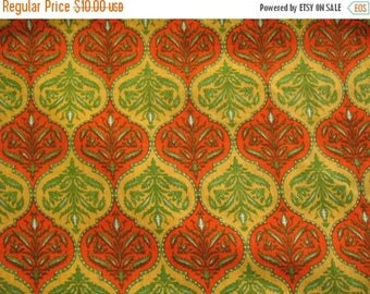 Flat 40% Off Screen Print Ogee Pattern Light Weight Cotton fabric Sold by Yard