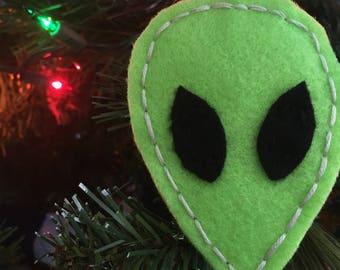 Felt Alien Ornament
