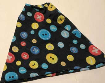 Primary Buttons 4 in 1 Headband - Neck Warmer - Messy Bun Hat - Ear Warmer