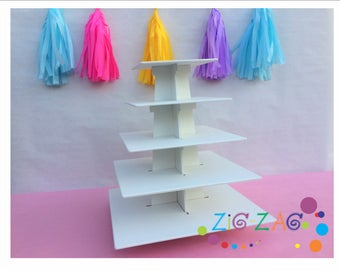 cupcake stand 5 tiers square shape