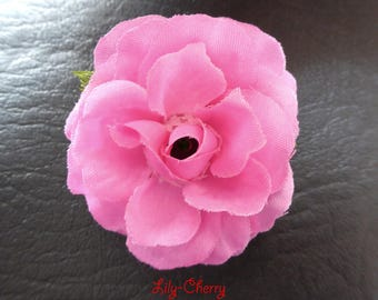 PINK rose color small artificial flower for hair decoration x 1