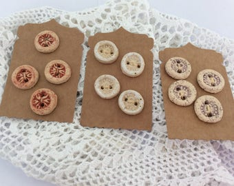 Ceramic Stoneware Buttons.