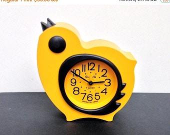 ON SALE Vintage alarm clock ,Chicken Clock , Soviet alarm clock ,Russian clock, Mechanical clock, working clock Slava