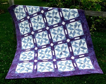 SALE, Buy 2/Get 1 Free -- TRIPLE PLAY, pdf quilt pattern, 3 sizes