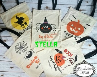 Trick or Treat bag | customized trick or treat bag | Customizable | Custom candy bag | Trick or treat