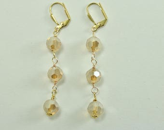 Crystal Champagne Earrings