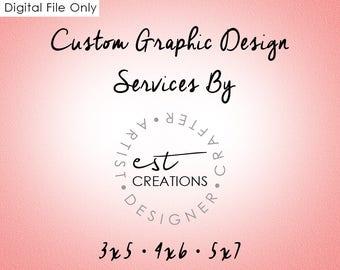 Graphic Design- Invites, Save-a-dates, Menus, Info Sheets, Favors, Programs