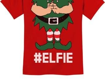 Elf Suit Funny Elfie Christmas Youth Kids T-Shirt