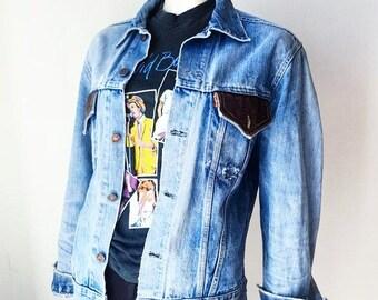 Jacket jacket Jean Denim Levi's 70's 80's worn Used LEVIS Orange Tab washed Jacket Made In USA